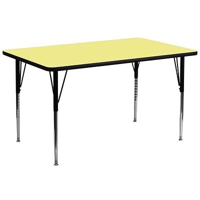 Flash Furniture 30W x 72L Rectangular Fused Laminate Activity Tables W/Standard Legs