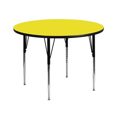 Flash Furniture 42(Dia.) Round Laminate Activity Tables W/Standard Adjustable Legs