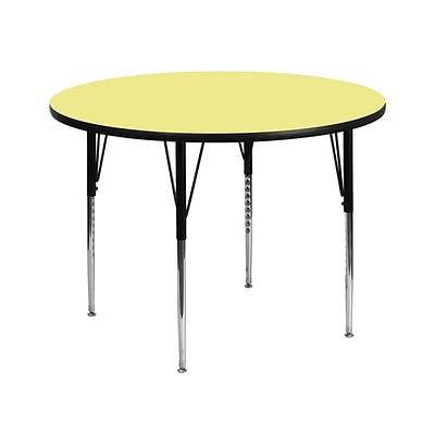 Flash Furniture 42(Dia.) Round Fused Laminate Activity Table W/Standard Legs, Yellow