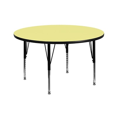 Flash Furniture 42(Dia.) Round Fused Laminate Activity Tables W/Pre-School Legs