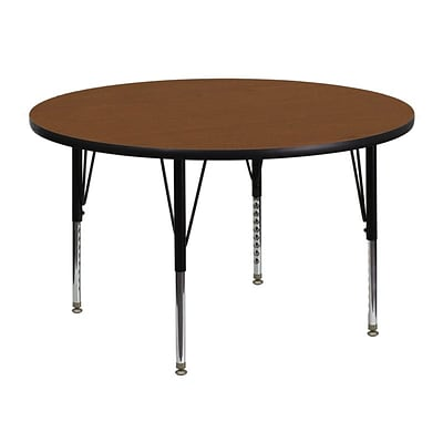 Flash Furniture 48(Dia.) Round Laminate Activity Tables W/Adjustable Pre-School Legs