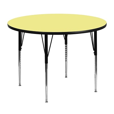 Flash Furniture 48(Dia.) Round Fused Laminate Activity Tables W/Standard Legs