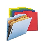 Smead® Letter 2 Divider Recycled Classification Folder w/2 Expansion; Assorted, 10/Pack