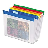 Pendaflex® EasyView™ Poly Hanging File Folders, Assorted Color Bar, Letter, Holds 8 1/2H x 11W, 25