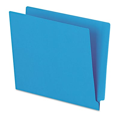 Pendaflex® Letter Straight Cut End Tab File Folder w/3/4 Expansion, Blue, 100/Pack