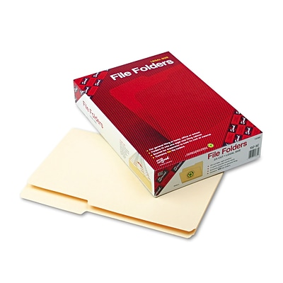 Smead® Legal 2/5 Cut Recycled File Folder with 3/4 Expansion, Manila, 100/Pack
