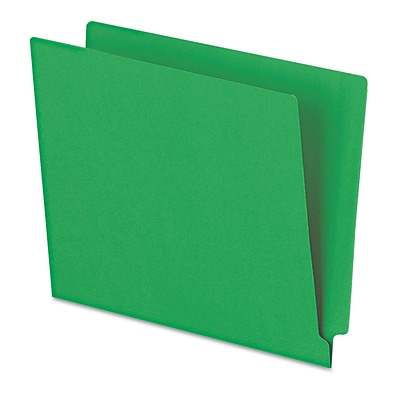 Pendaflex® Letter Straight Cut End Tab File Folder w/3/4 Expansion, Green, 100/Pack