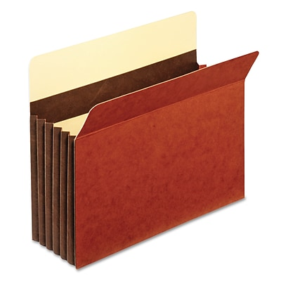Cardinal Globe-Weis® Letter Accordion Pocket With 5 1/4 Expansion, Red, 10/Box