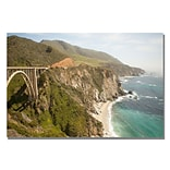 Trademark Fine Art Ariane Moshayedi Big Sur Coast II Canvas Art 22x32 Inches