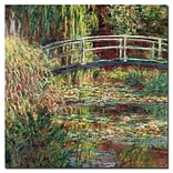Trademark Fine Art Claude Monet Waterlily Pond Pink Harmony1900 Canvas