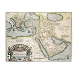 Trademark Fine Art Abraham Ortelius Map of the Middle East 1570 Canvas Art 35x47 Inches