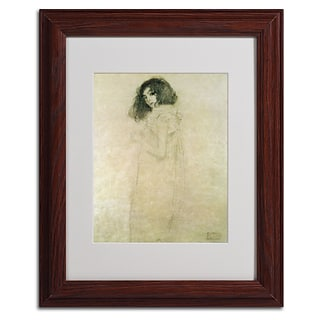 Gustav Klimt Portrait of a Young Woman 1896-97 Matted Fra - 11x14 Inches - Wood Frame