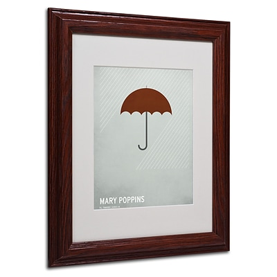 Christian Jackson Marry Poppins Matted Framed Art - 11x14 Inches - Wood Frame