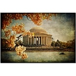 Trademark Fine Art Lois Bryan Jefferson Memorial Art  Ready to Hang 22x32 Inches