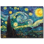 Trademark Fine Art Vincent van Gogh Starry Night Canvas Art 35x47 Inches