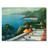 Trademark Fine Art Rio Cafe on Lake Como Canvas Art 18x24 Inches