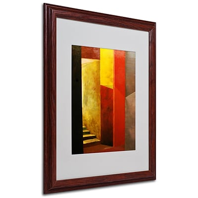 Michelle Calkins Mystery Stairwell Framed Matted Art - 16x20 Inches - Wood Frame