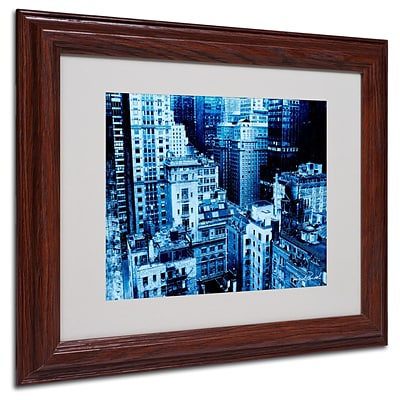 Miguel Paredes Upper West Side Matted Framed Art - 11x14 Inches - Wood Frame