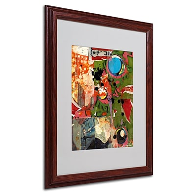 Miguel Paredes Urban Collage I Matted Framed Art - 16x20 Inches - Wood Frame