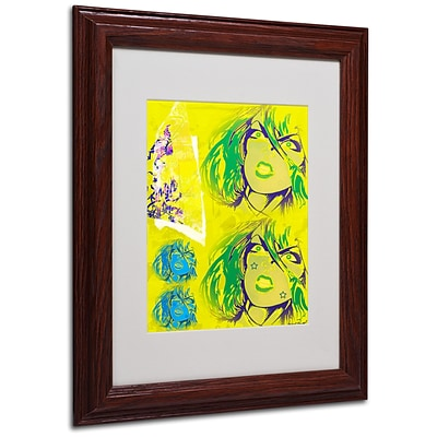 Miguel Paredes Crime in Yellow Matted Framed Art - 11x14 Inches - Wood Frame