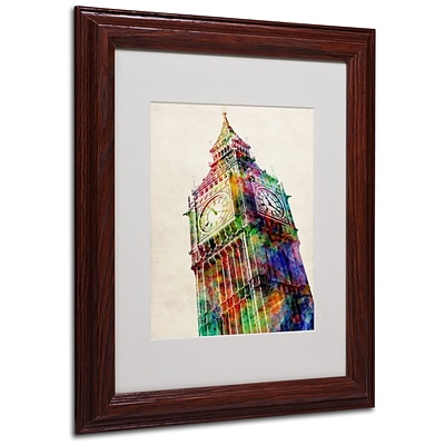 Michael Tompsett Big Ben Matted Framed Art - 16x20 Inches - Wood Frame