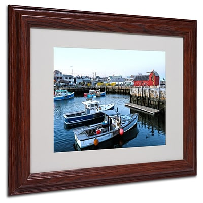 CATeyes Boston 7 Matted Framed Art - 11x14 Inches - Wood Frame