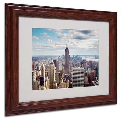 Nina Papiorek Empire View Matted Framed Art - 11x14 Inches - Wood Frame