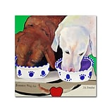 Trademark Fine Art Pat Saunders Summer Wag Ale Canvas Art 18x18 Inches