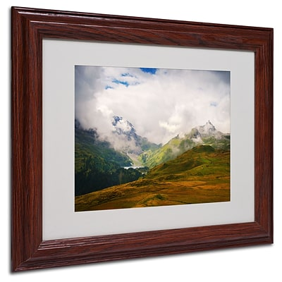 Philippe Sainte-Laudy Peaceful Switzerland Matted Framed - 11x14 Inches - Wood Frame
