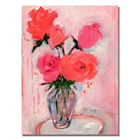 Trademark Fine Art Shelia Golden Roses Canvas Art 35x47 Inches