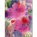 Trademark Fine Art Sheila Golden Pink Blossoms Canvas Art 18x24 Inches