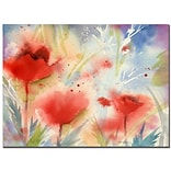 Trademark Fine Art Sheila Golden Poppy Splash Canvas Art 18x24 Inches
