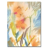 Trademark Fine Art Shelia Golden Tropical Orange Flowers Canvas Art 24x32 Inches