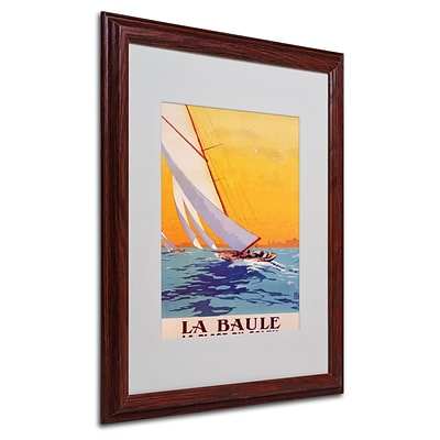 Charles Allo La Baule Matted Framed Art - 16x20 Inches - Wood Frame