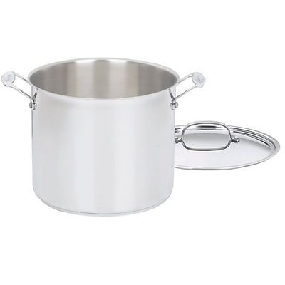Cuisinart  Chefs Classic  12 qt. Stainless Steel Stockpot with Cover; 4/Case, Silver