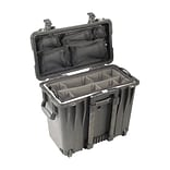 Pelican™ 1447 Rolling Top Loader Case With Office Divider Set and Lid Organizer; Black