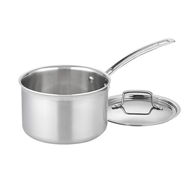 Cuisinart Multiclad Pro 3qt Stainless Steel Saucepan with Cover