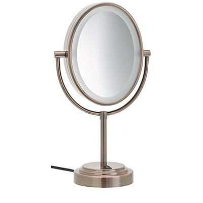 Conair Double-Sided Lighted Mirror; 7 x 9 1/2, Oiled Bronze (BE47BR)