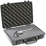 Pelican Hardback case in black color has notebook liner with foam to provide added protection for 13