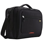 Case Logic® Professional briefcase in black color features dedicated compartments that protect a lap