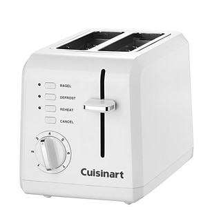 Cuisinart® Leverless Compact Plastic 2 Slice Toaster, White