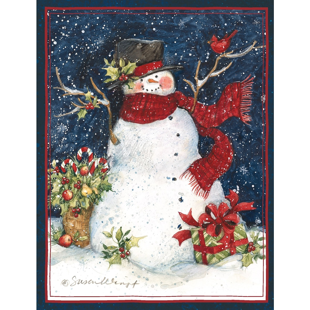 LANG® Snowman Scarf Boxed Christmas Cards   Quill.com