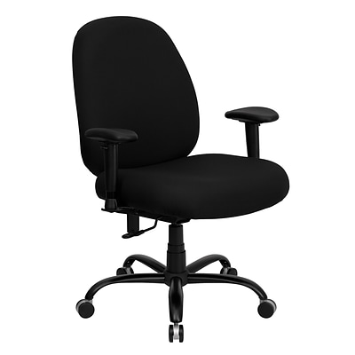Flash Furniture HERCULES Series 400-lb. Capacity Big and Tall Fabric Office Chair, Black