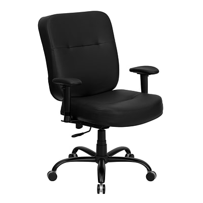 Belnick HERCULES™ Series Office Chairs with Arms and Extra Wide Seat, Leather, Espresso