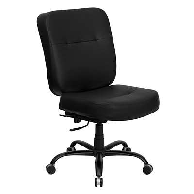 Belnick Hercules™ Series Leather Office Chair with Extra Wide Seat, Black