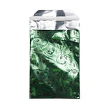 JAM Paper® Foil Envelopes with Self Adhesive Closure, 7 x 9.5, Open End, Christmas Green Mistletoe,