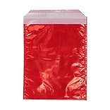 JAM Paper® Foil Envelopes with Self Adhesive Closure, 6 1/4 x 7 7/8, Open End, Red Irredescent, 100/
