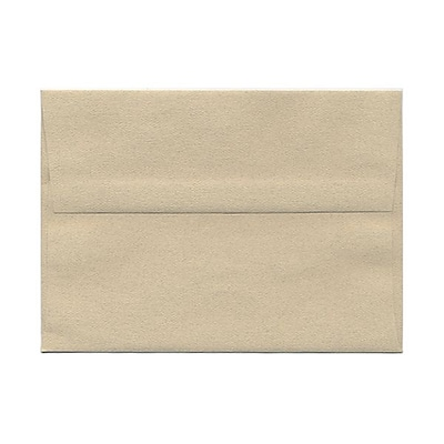 JAM Paper® A7 Invitation Envelopes, 5.25 x 7.25 Sandstone Ivory Recycled, 1000/carton (41403B)