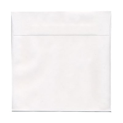 JAM Paper® 10.5 x 10.5 Square Envelopes, White, 25/pack (3992320)