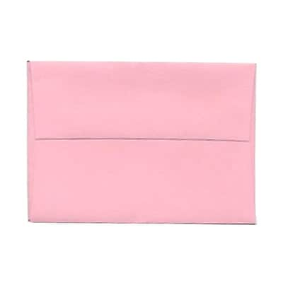 JAM Paper® 4bar A1 Envelopes, 3 5/8 x 5 1/8, Baby Pink, 25/pack (155621)
